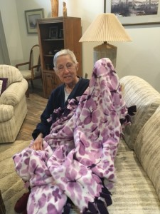 Cancer patient with YANA blanket